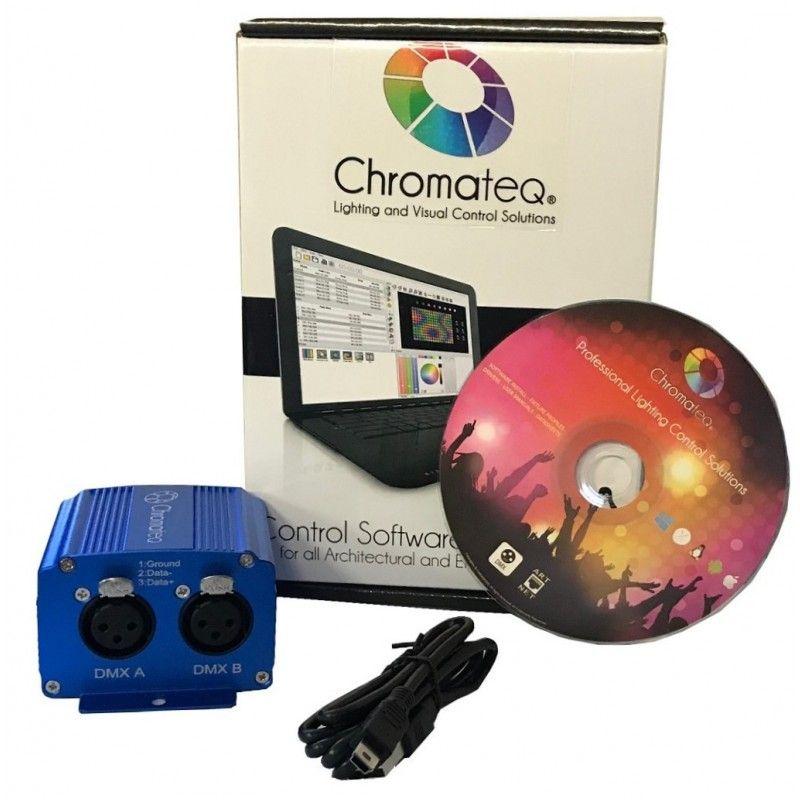 CHROMATEQ CLUB 1024 sterownik DMX oprogramowanie