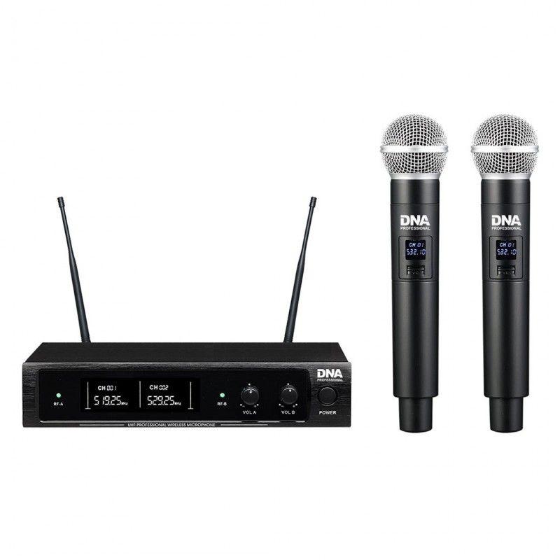DNA DJ DUAL VOCAL wokalowe mikrofony bezprzewodowe