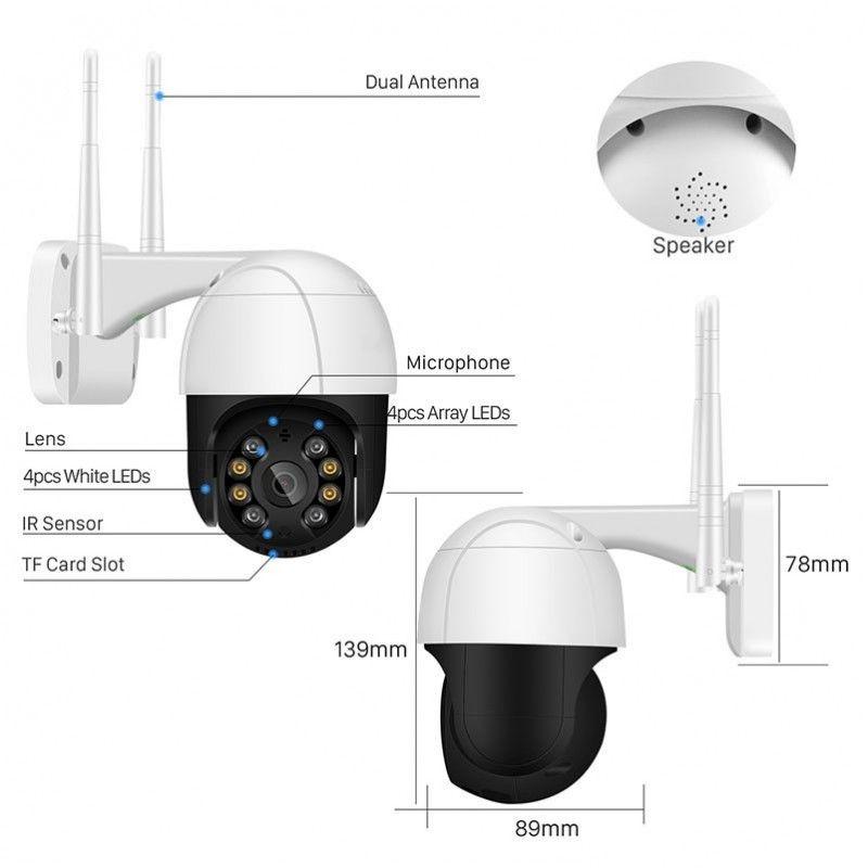 NN CA 200 kamera wi-fi do monitoringu zewnętrznego obrotowa