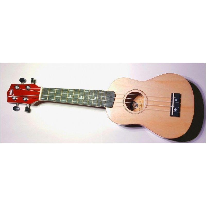 VIBE UK21 zestaw ukulele sopr NATURAL Powystawowe