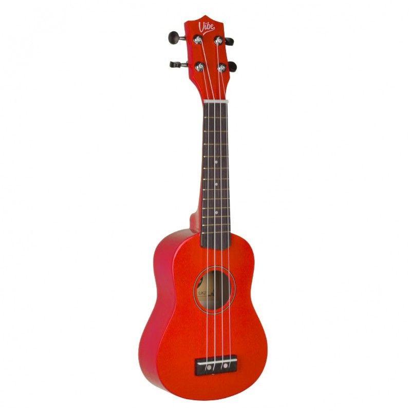 VIBE UK21 zestaw ukulele sopranowe czerwone RED