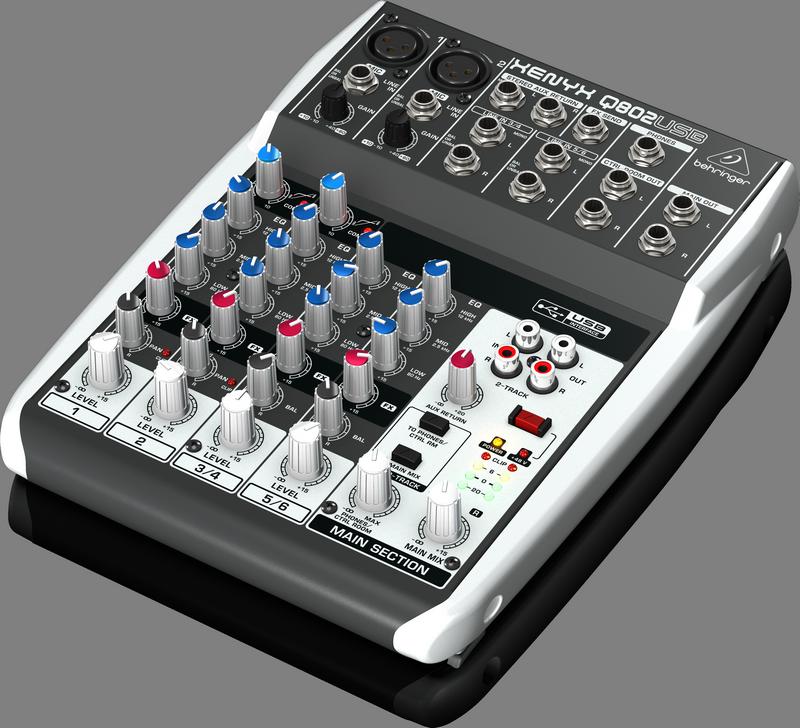 BEHRINGER XENYX Q802 USB mikser interfejs audio