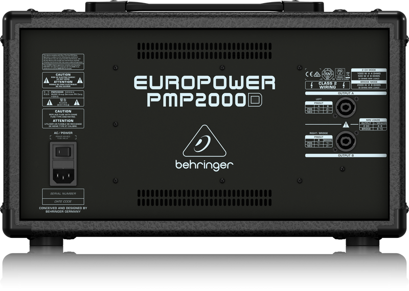 BEHRINGER PMP 2000D powermikser analogowy 2x1000W