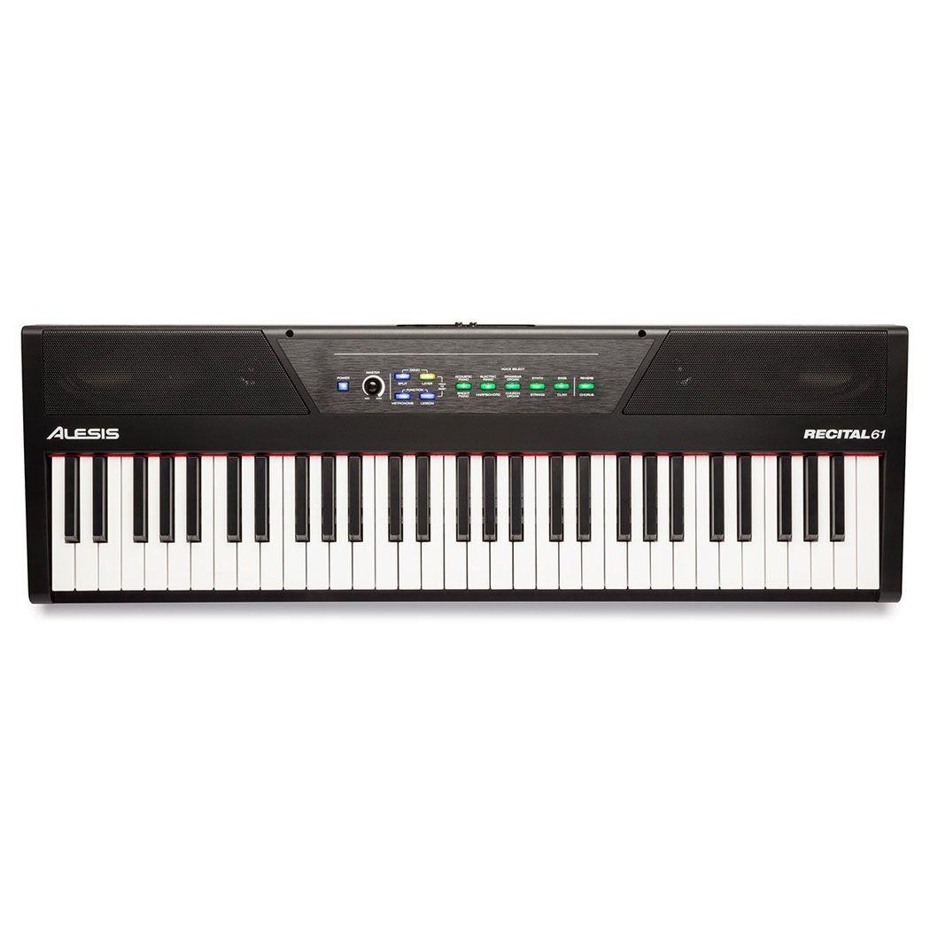 ALESIS RECITAL 61 pianino cyfrowe klawisze do nauki USB MIDI RCA AUX