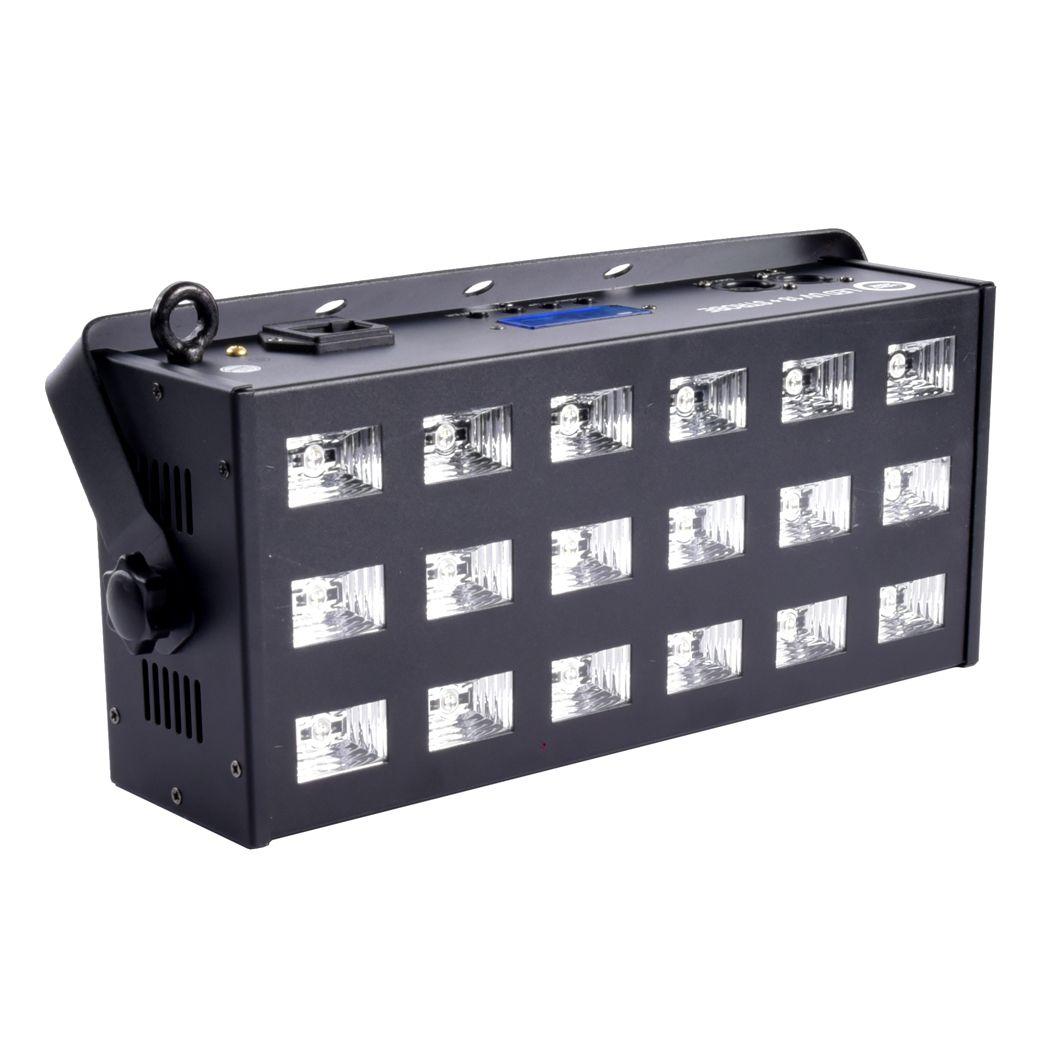 LIGHT4ME LED UV 18 X 3W REFLEKTOR + STROBOSKOP DMX