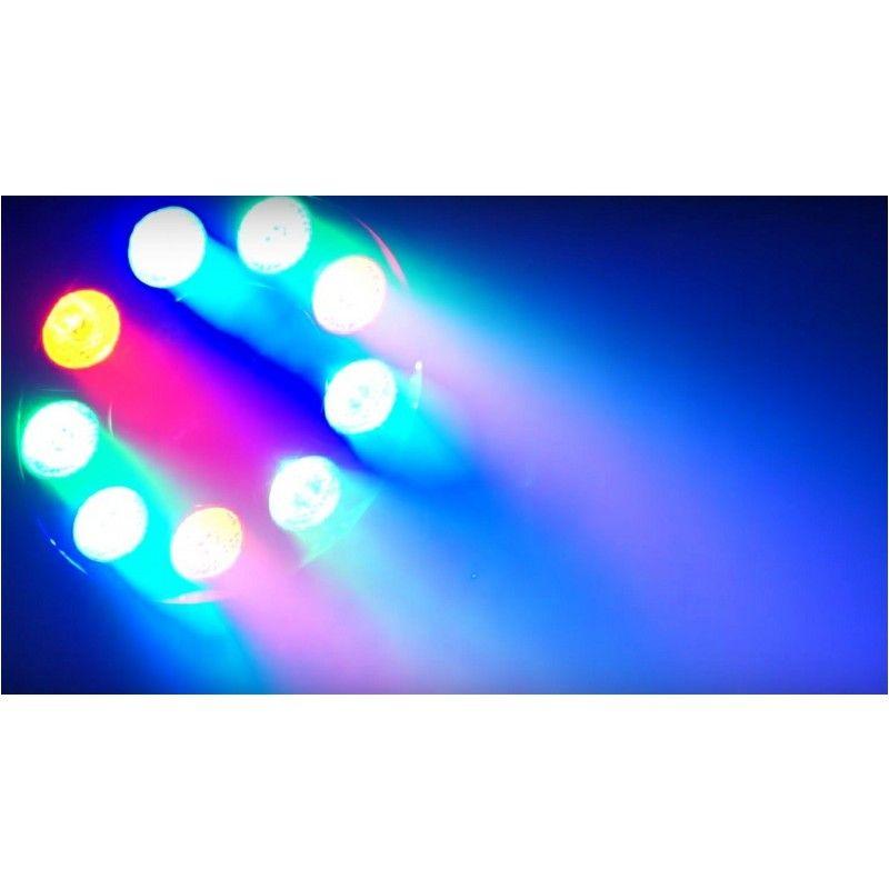 LIGHT4ME PAR 12x1W LED RGBW KOLOROFON MOCNY
