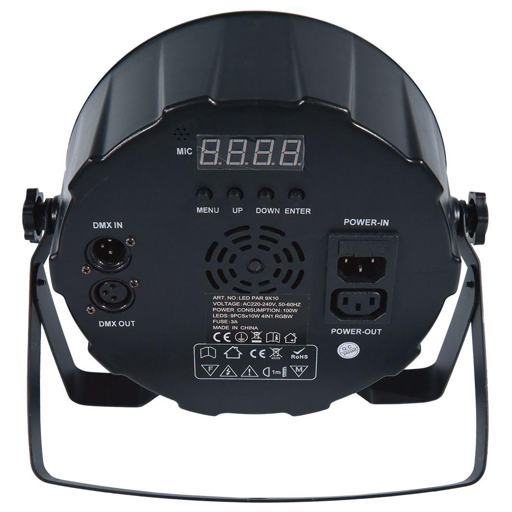 LIGHT4ME LED PAR 9X10W MKII RGBW pilot IR