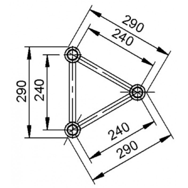 ALUSTAGE 290 TRI-SYSTEM konstrukcja (2mm) 1.5m