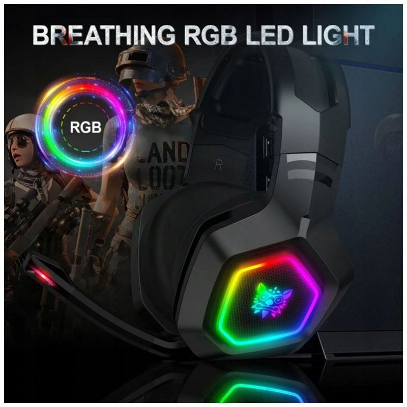 ONIKUMA K10 słuchawki gamingowe dla graczy RGB LED