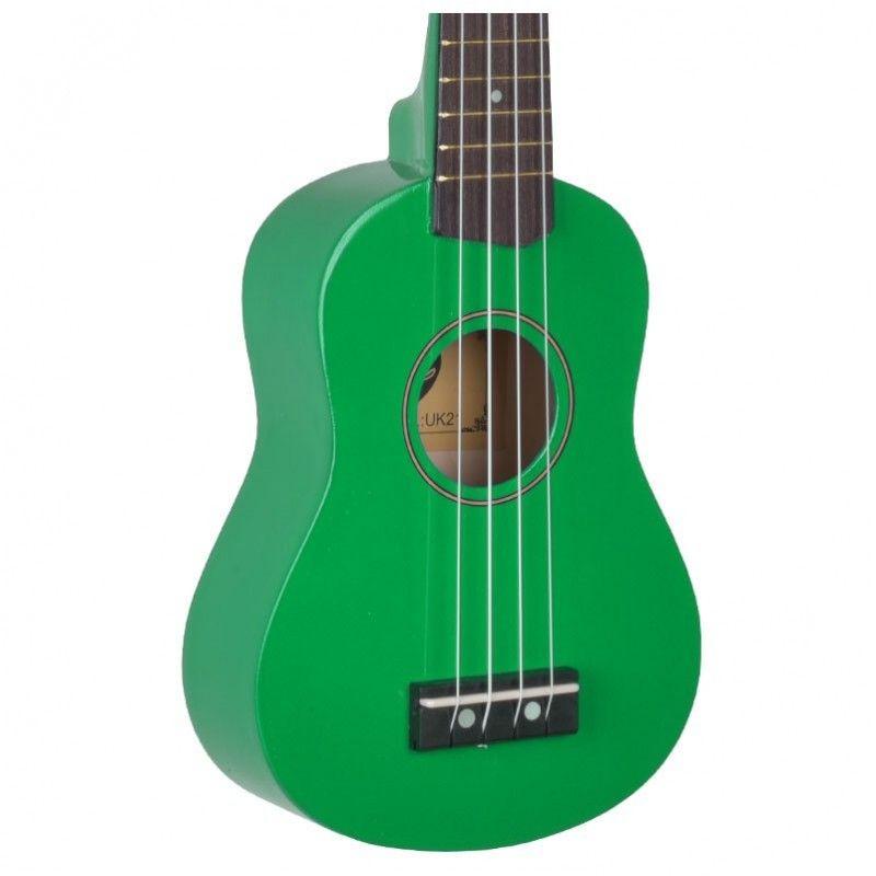 VIBE UK21 zestaw ukulele sopranowe zielone GREEN