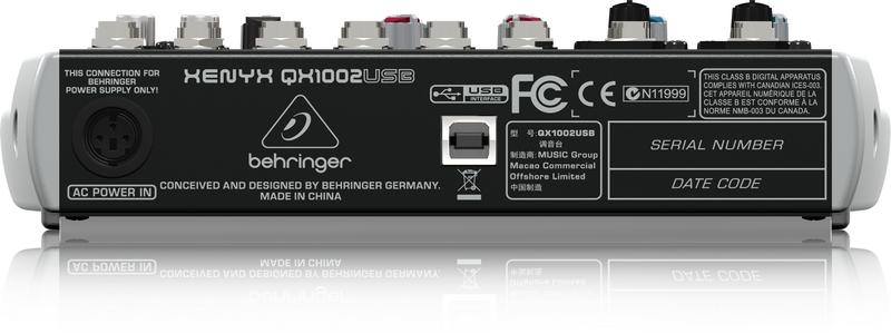 BEHRINGER XENYX QX 1002 USB mikser analogowy audio