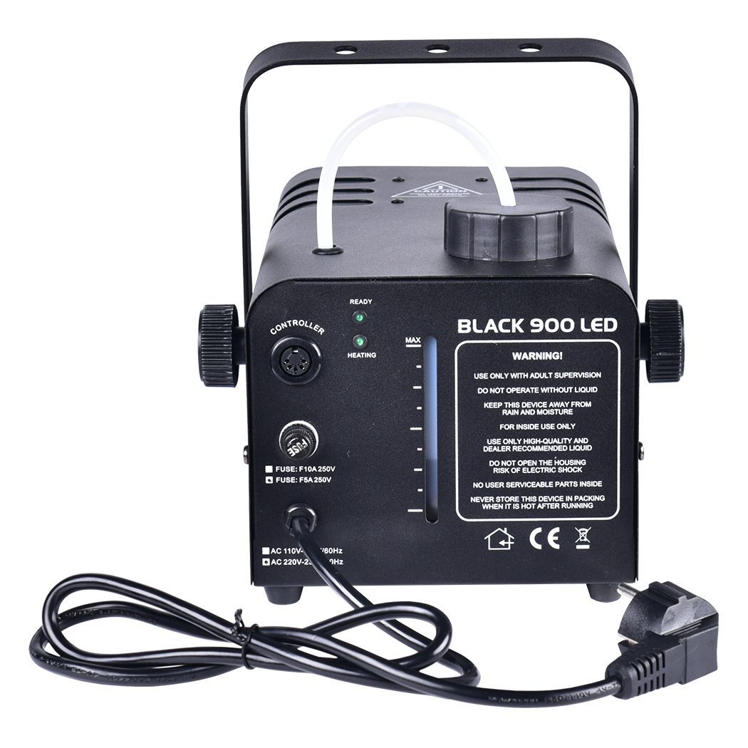 LIGHT4ME BLACK 900 LED - wytwornica dymu, mgły + płyn 1L (kopia)