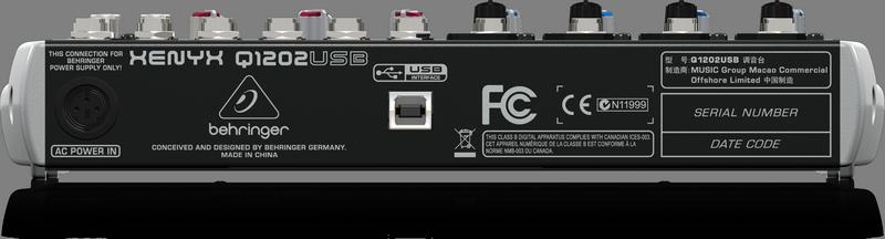 BEHRINGER XENYX Q1202 USB analogowy mikser audio