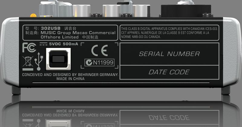 BEHRINGER XENYX 302 USB mikser do domowego studia