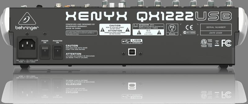 BEHRINGER XENYX QX 1222 USB mikser analogowy audio