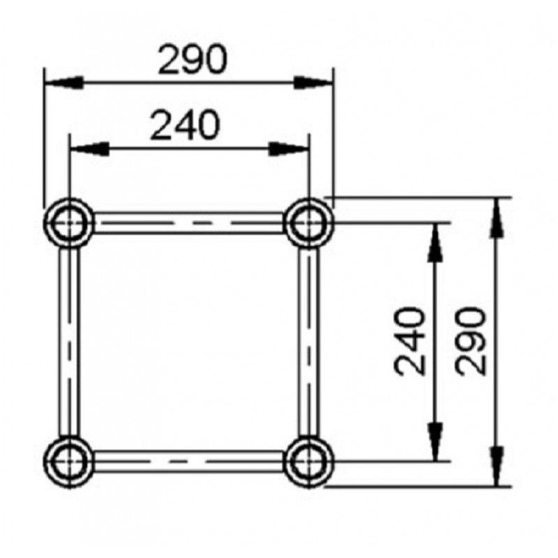 ALUSTAGE 290 QUADRO konstrukcja (2mm) 1.50m