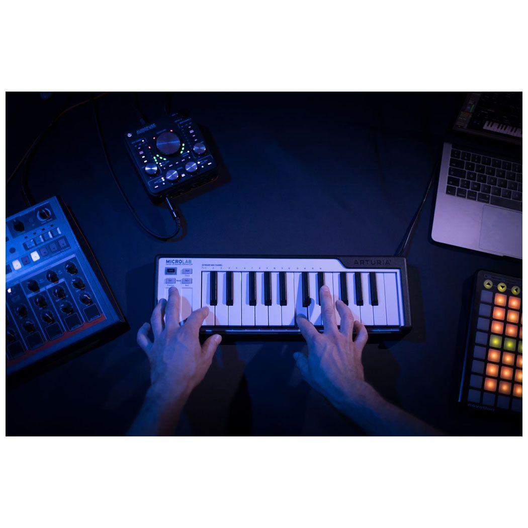 ARTURIA MICROLAB BK klawiatura sterująca MIDI USB