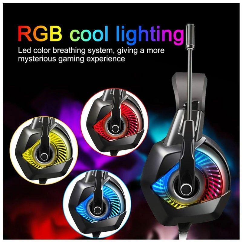 ONIKUMA K6 słuchawki gamingowe dla graczy RGB LED