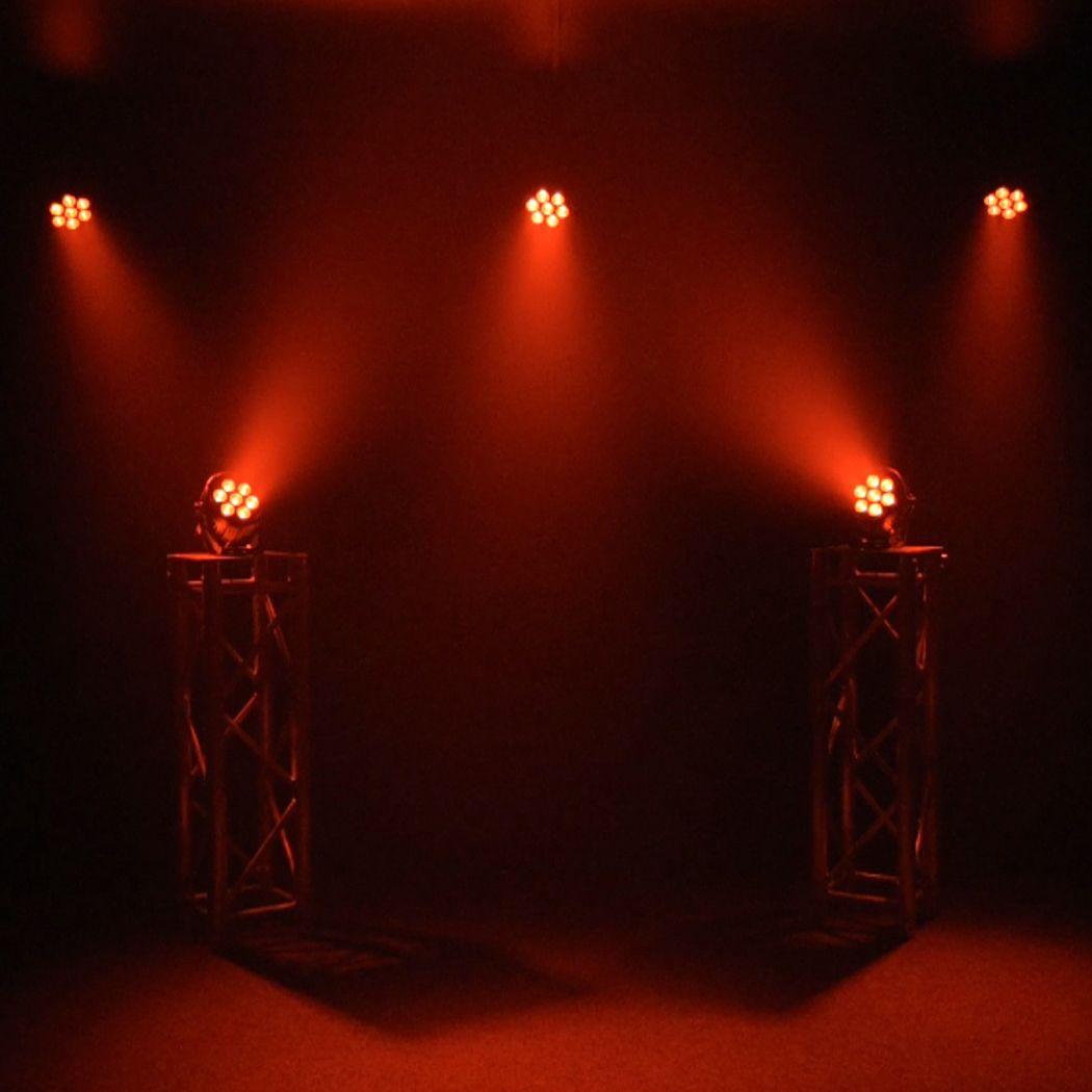 LIGHT4ME BLACK PAR 7x10W RGBWA LED Powystawowy