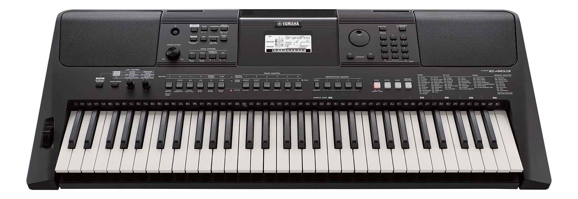YAMAHA PSR E 463 keyboard z dynamiczną klawiaturą