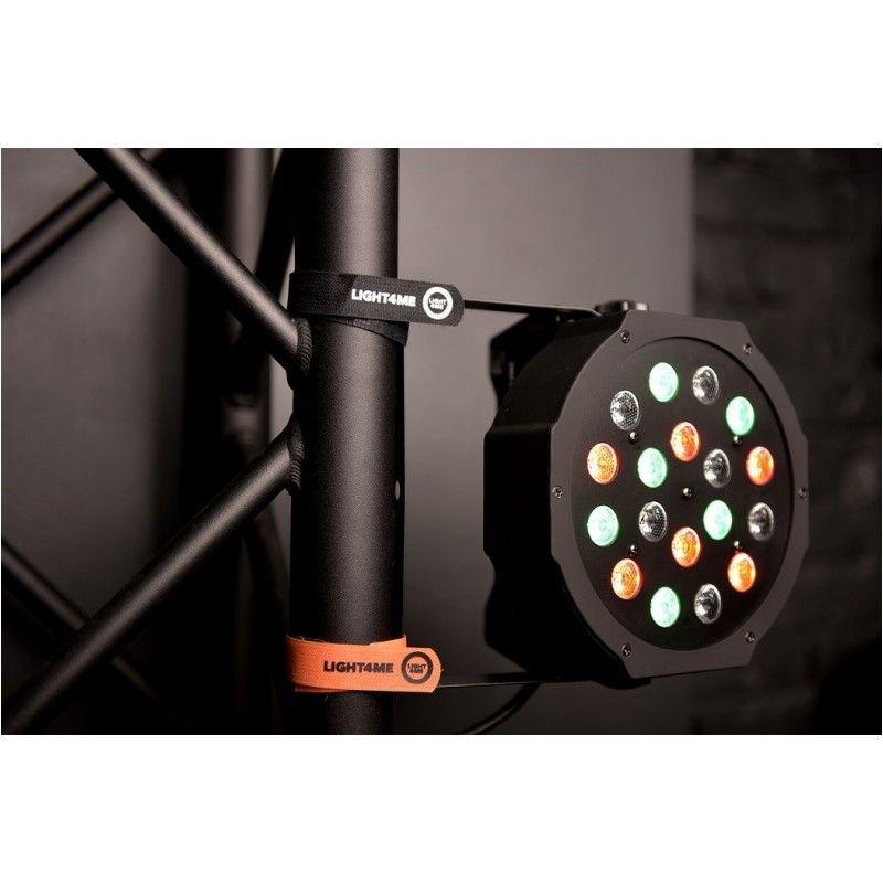 LIGHT4ME OPASKA RZEPOWA 20x200 mm pomarańczowa