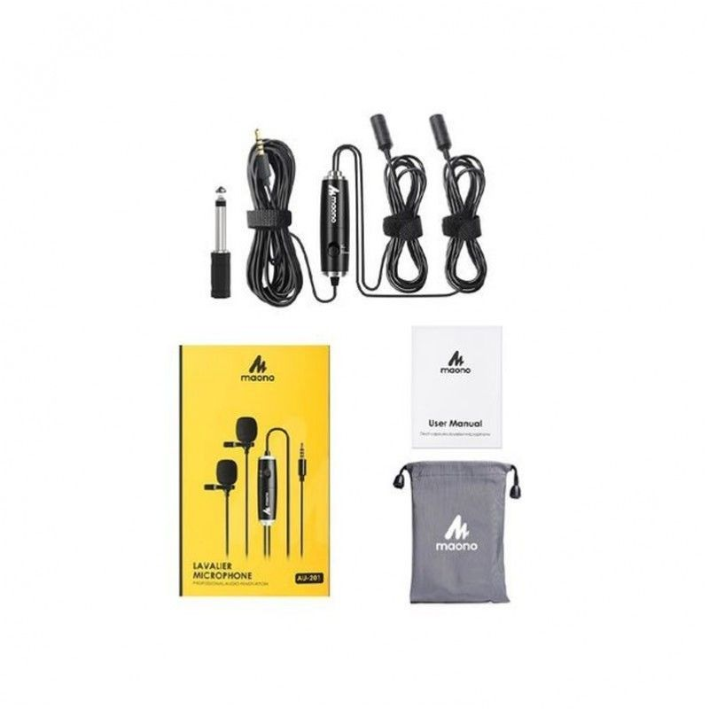 MAONO AU-201 lavalier mikrofon krawatowy para