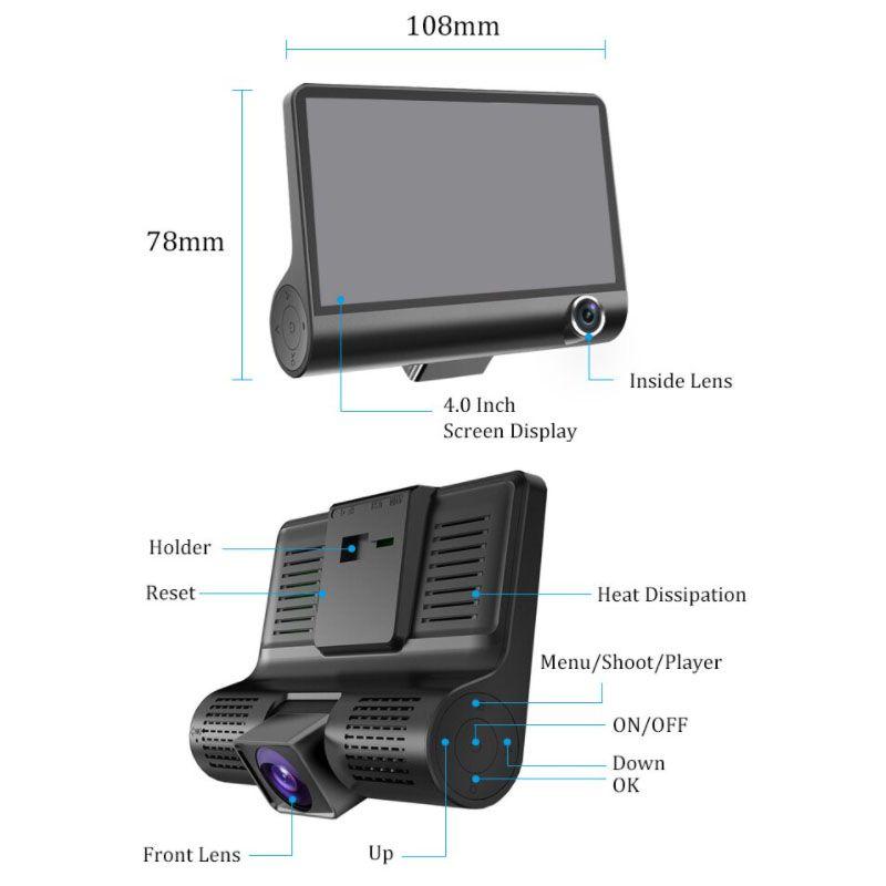NN L319 rejestrator jazdy kamera samochodowa FHD