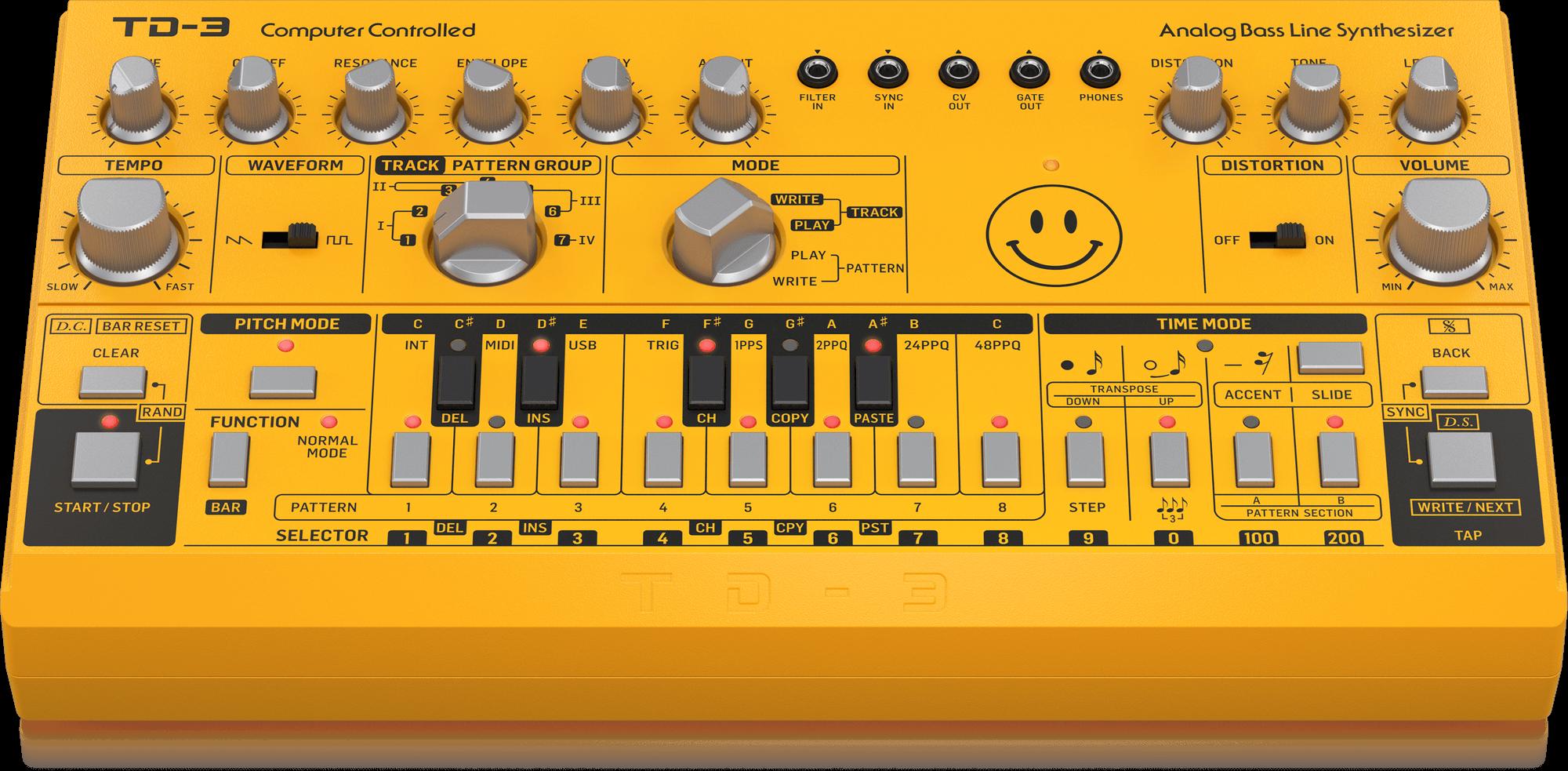 BEHRINGER TD-3-AM YE syntezator linii basu analog