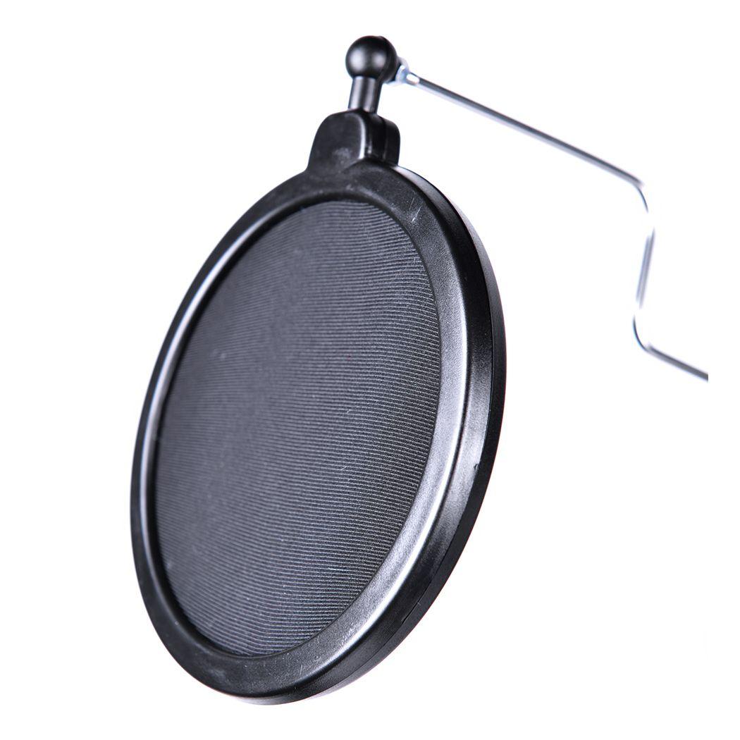 NN C10 statyw mikrofonowy biurkowy ramię wysięgnik + pop filtr kosz uchwyt do telefonu