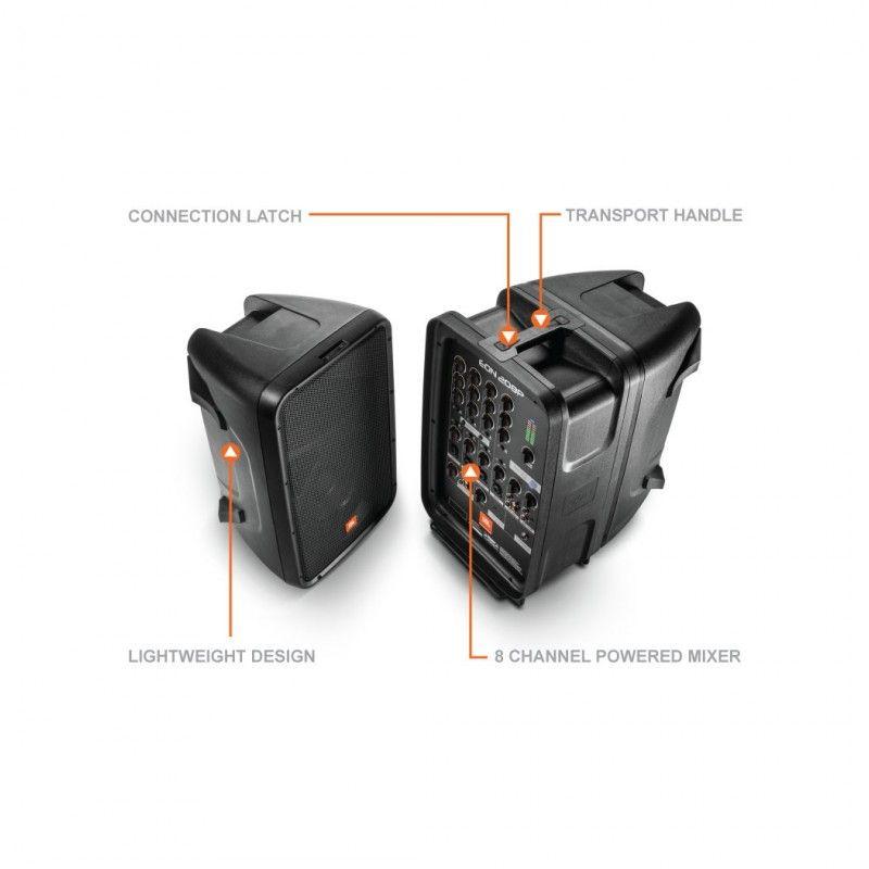 JBL EON 208P zestaw głośniki powermikser mikrofon