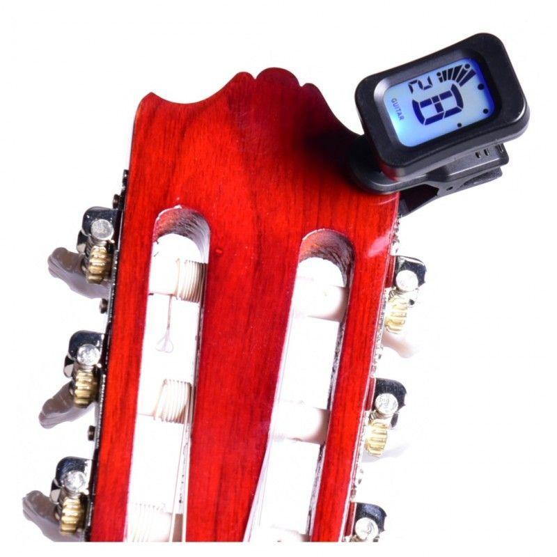 NN LT10 stroik tuner do gitary basu ukulele klips