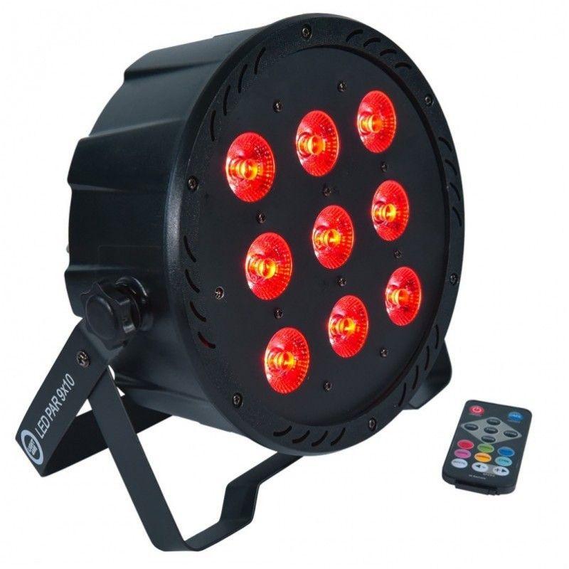 LIGHT4ME LED PAR 9X10W MKII RGBW PILOT IR Uszkodzo