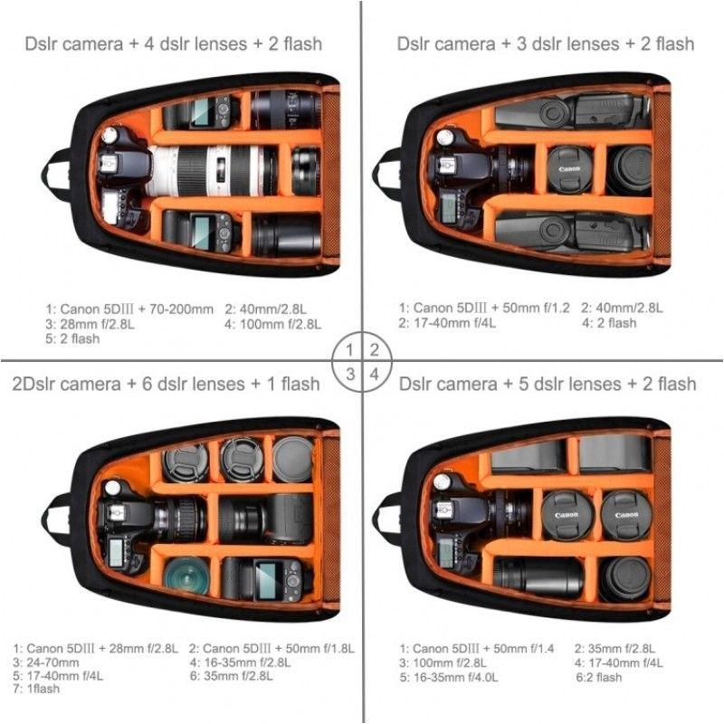 PULUZ PU 5011B plecak na sprzęt i akcesoria foto