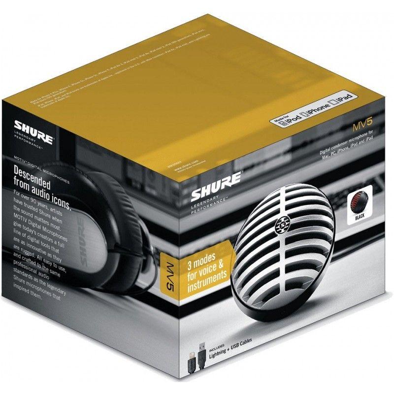 SHURE MOTIV MV5 cyfrowy mikrofon pojemnościowy USB
