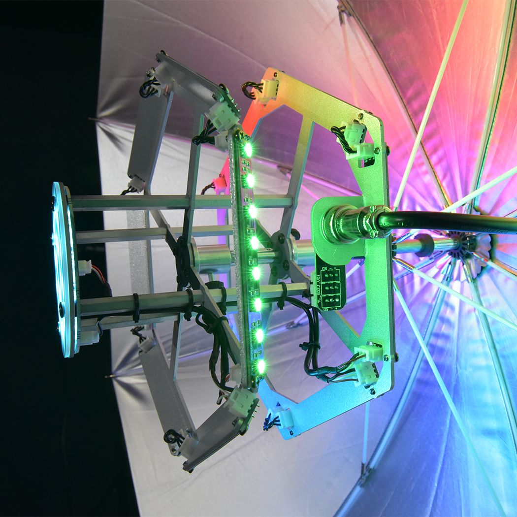 EVOLIGHTS SOLAR 140 - parasolka efekt LED RGB USB