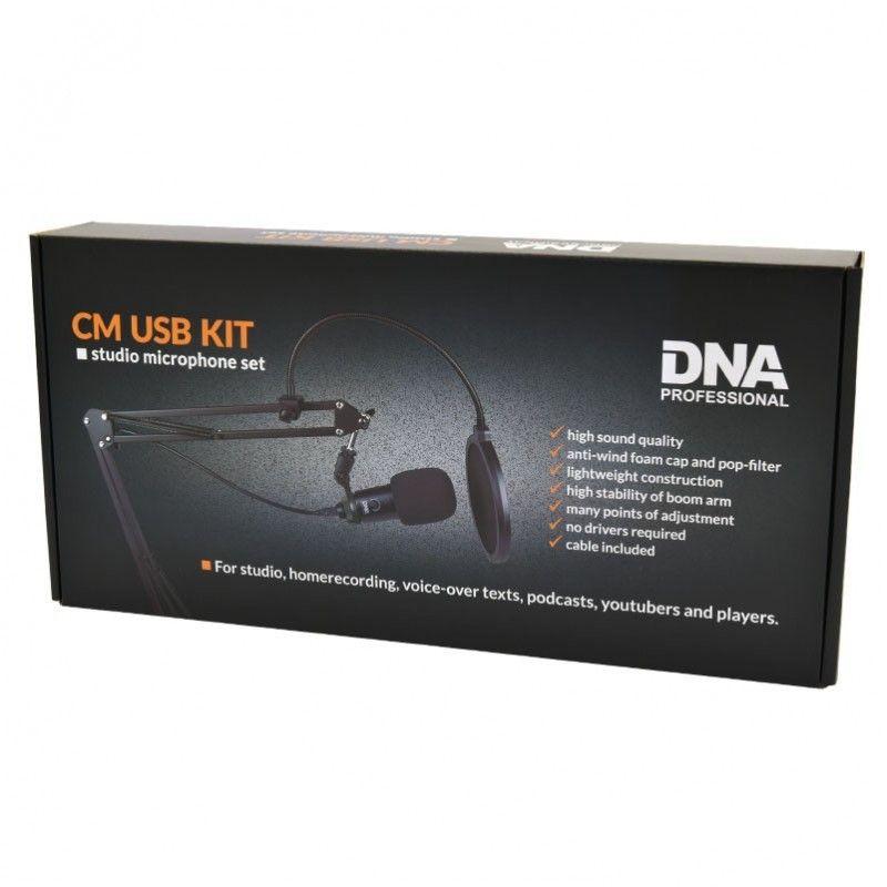 DNA CM USB KIT zestaw mikrofonowy ramię pop filtr