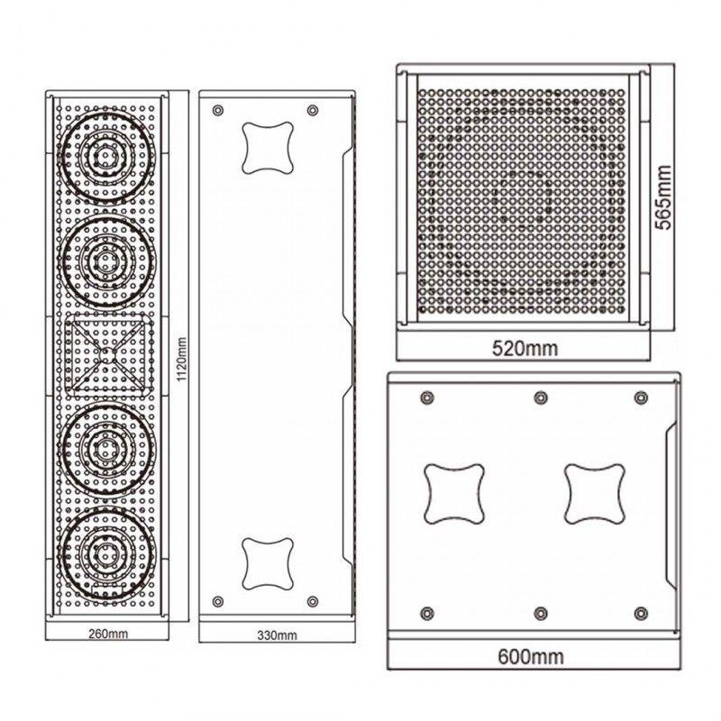 DNA RLX-3300 zestaw nagłośnieniowy aktywny 6600W