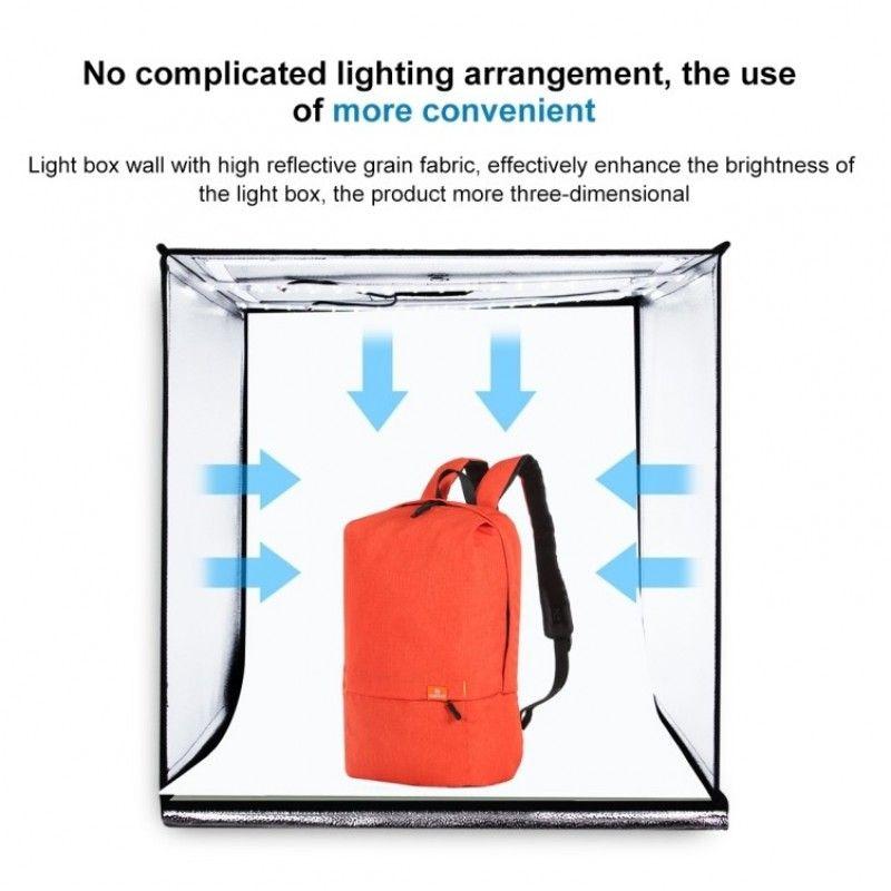 PULUZ PU 5060EU namiot bezcieniowy do zdjęć z LED