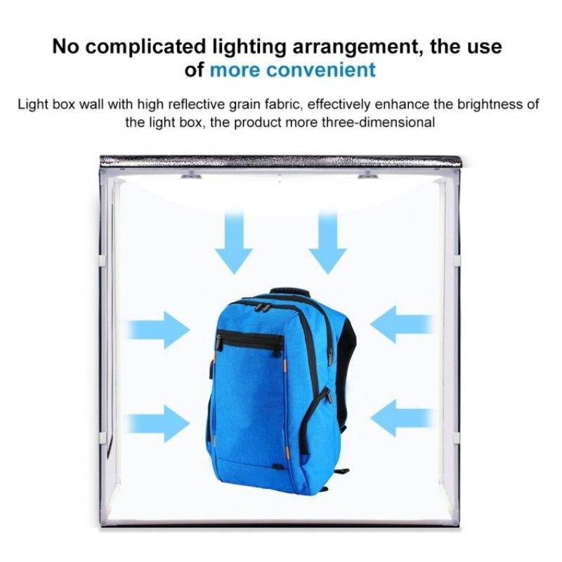 PULUZ PU 5080EU namiot bezcieniowy do zdjęć z LED