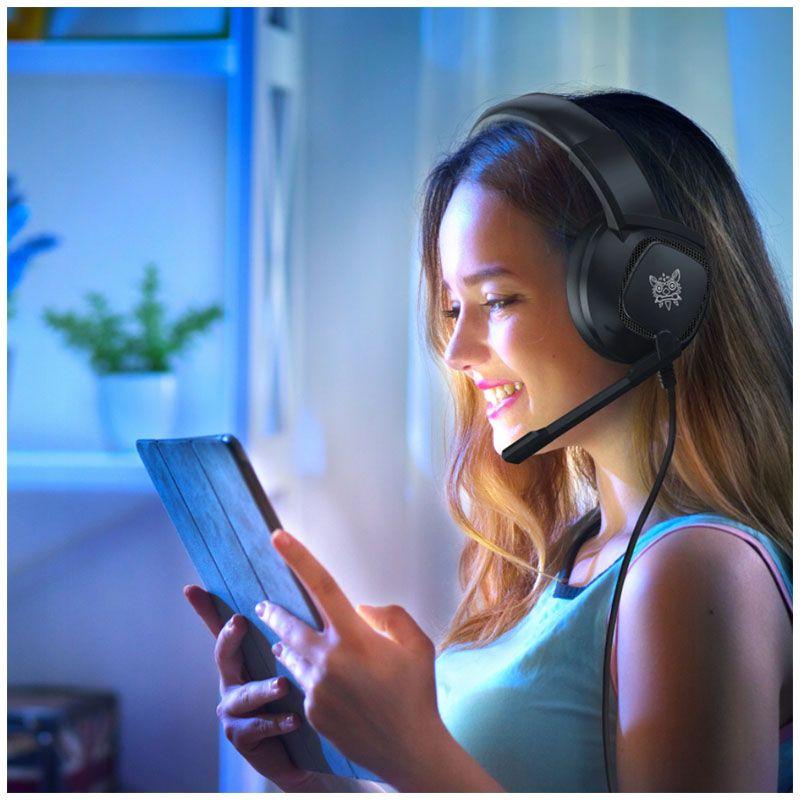 ONIKUMA K19 słuchawki gamingowe dla graczy RGB LED