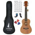 ARROW MH10 MH ukulele koncertowe z pokrowcem SET