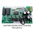 S. LIGHT4ME MOVING HEAD 7x3W RGB PŁYTA GŁÓWNA
