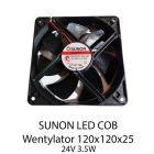 S. SUNON LED COB WENTYLATOR 120X120X25 24V 3,5W