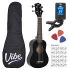 VIBE UK21 zestaw ukulele sopr BLACK Powystawowe