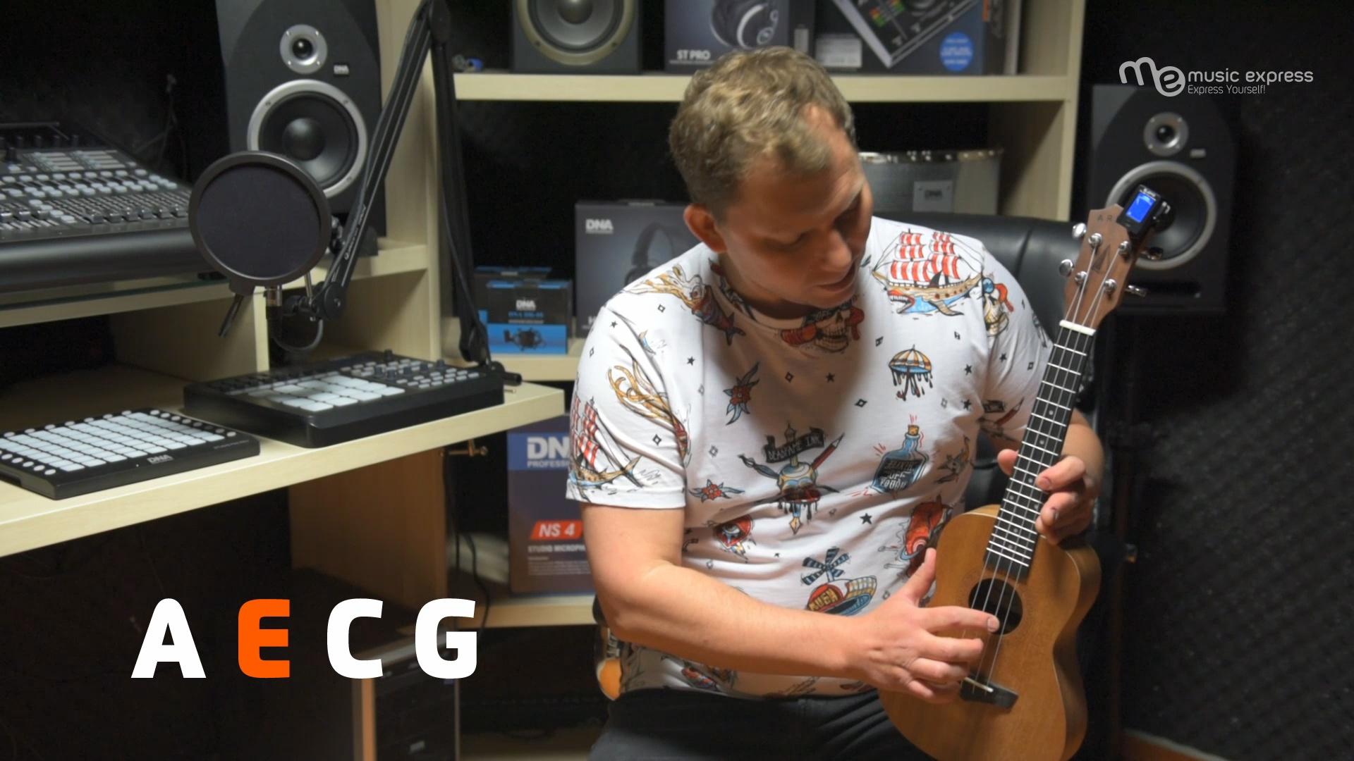 Strojenie ukulele